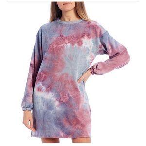 Jersey tie dye print tunic dress NWTS. S, M, L
